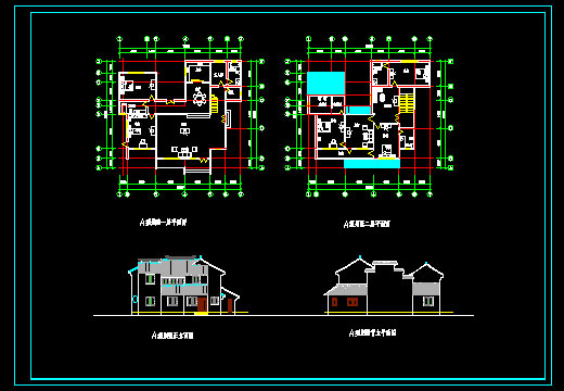 别墅建筑设计图-房屋装修-中国图纸交易网