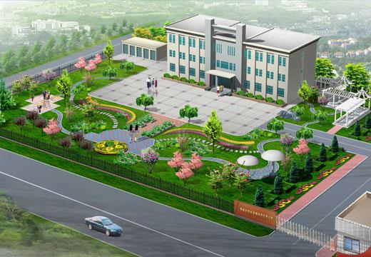 办公楼前绿化效果图-效果图-中国图纸交易网多肉植物园景观设计图片