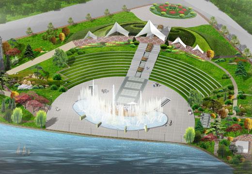滨河广场设计