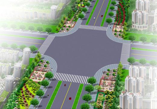 城市道路绿化带效果图 效果图 中国图纸交易网