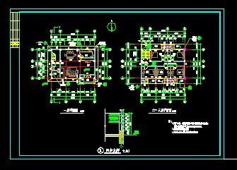 农村三层小别墅施工图 房屋设计图 中国图纸交
