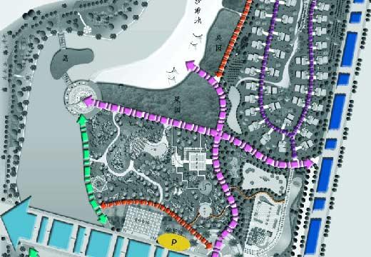 洗耳河公园规划设计图纸全套(6张)
