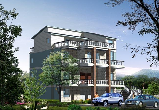 农村别墅设计平面图带效果图-房屋设计图-中国图纸