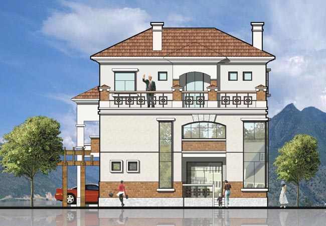 一套完整别墅设计图