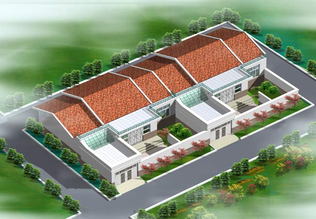 新农村平房方案效果图 效果图 中国图纸交易网