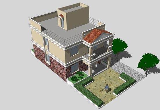 新农村建设住宅效果图、平面图-房屋设计图-中