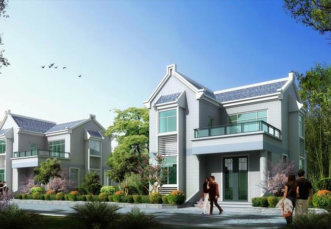 新农村2层房屋设计图带效果图 10x8 房屋设计 高清图片