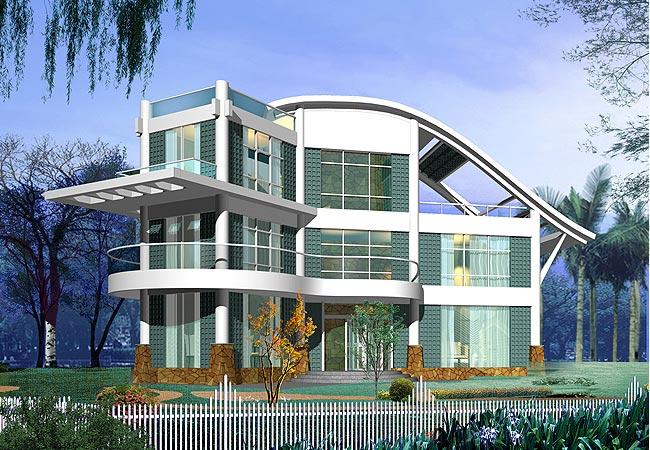 现代别墅效果图