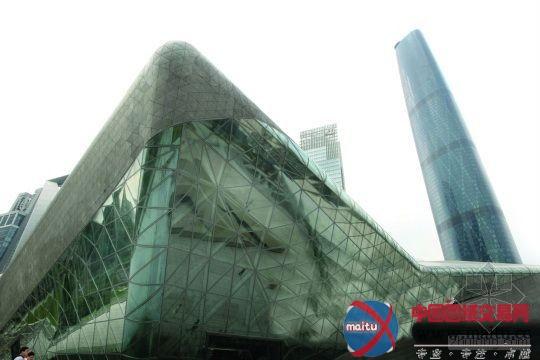 广州大年夜剧院与西塔相看.材料图片
