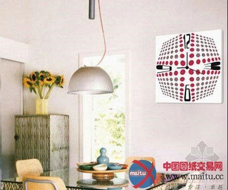 装饰画挂钟 个性单品造时尚家居-室内设计-中国图纸
