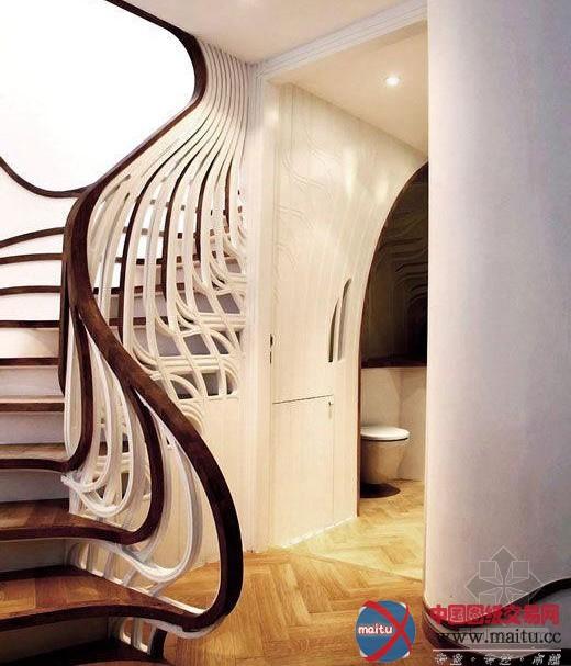独特扭曲楼梯-室内设计-中国图纸交易网