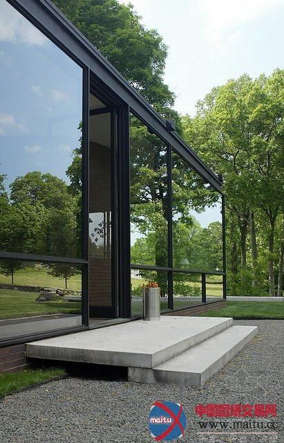 经典重温:菲利普·约翰逊的玻璃屋-建筑设计-中国图纸图片