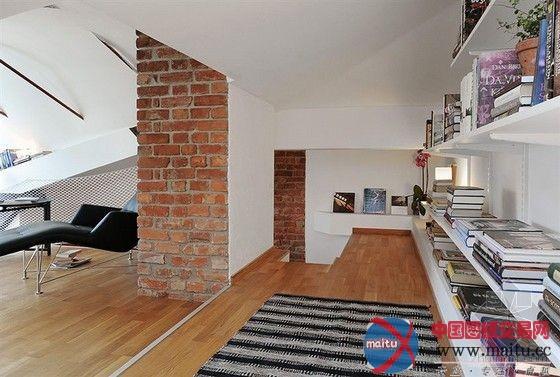 瑞典双层阁楼公寓-室内设计-中国图纸交易网