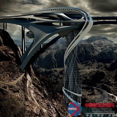飘带——超高层概念设计-建筑设计-中国图纸交易网