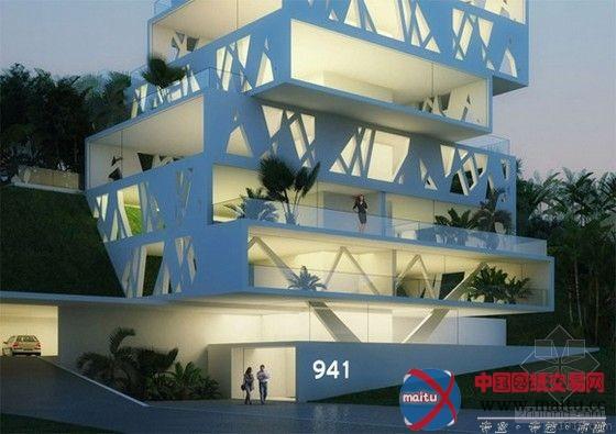 """""""立方体""""豪华公寓-建筑设计-中国图纸交易网"""