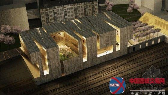 瑞士美术博物馆竞赛方案-建筑设计-中国图纸交易网