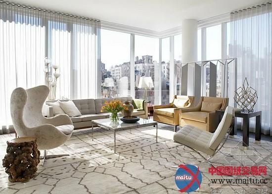 纽约曼哈顿公寓-室内设计-中国图纸交易网