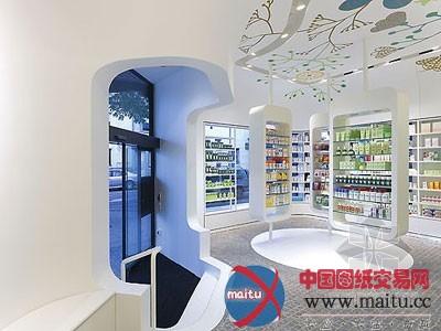 药店空间设计-室内设计-中国图纸交易网