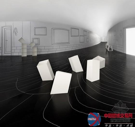 这是一个可以或许让你迷掉的诟谇空间,是由计划师 Oki Sato计划,这类诟谇空间带给人一种猛烈的素描感。让你置身平面又似立体空间当中,单看图片眼球就有较强的视觉打击感,想必假定身处此中的话,必然会迷掉吧。