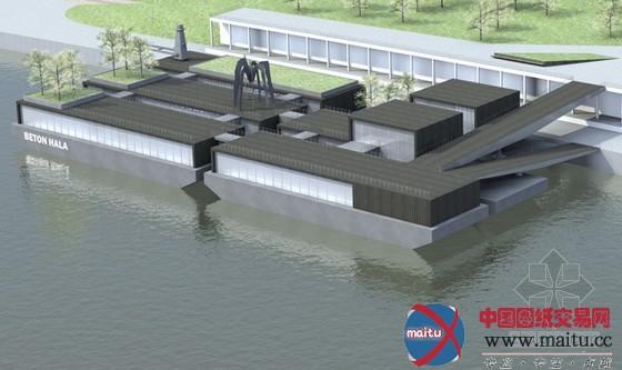 滨水建筑平面图图片 滨水景观设计平面图,滨水茶室设计平面