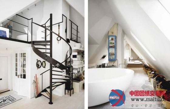 瑞典阁楼工作室-室内设计-中国图纸交易网