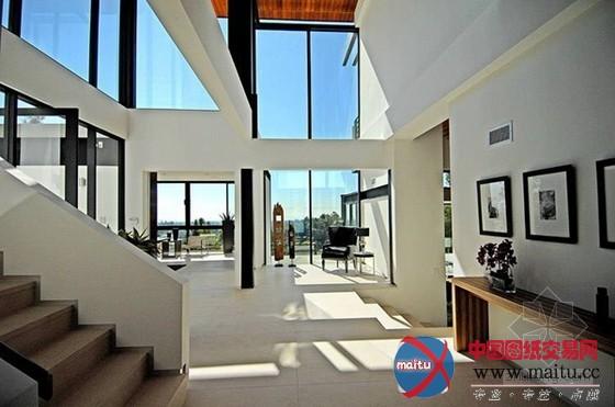 洛杉矶当代别墅-室内设计-中国图纸交易网