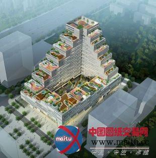 階梯式空中花園綠色建筑:泰然大廈-暖通空調-中國