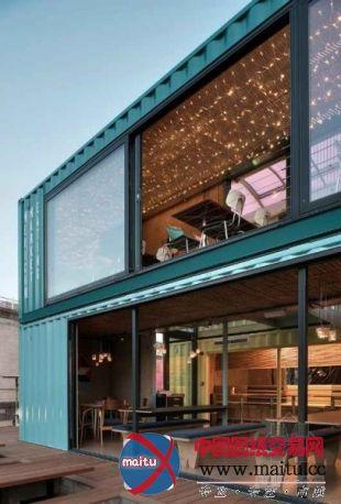 旧物回收英国伦敦集装箱餐厅设计-室内设计-中国图纸