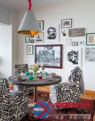 纽约多彩现代复古家装装饰设计-室内设计-中国图纸