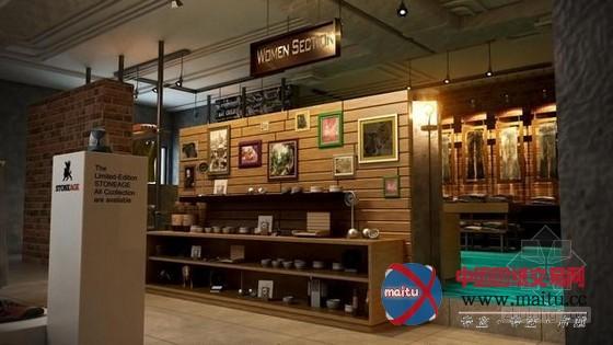 石器时代旗舰店面装修设计-室内设计-中国图纸交易网