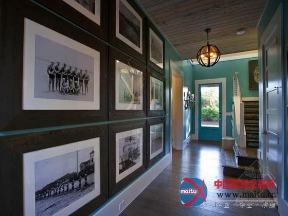 美式蓝色调的海滨别墅装修设计-室内设计-中国图纸