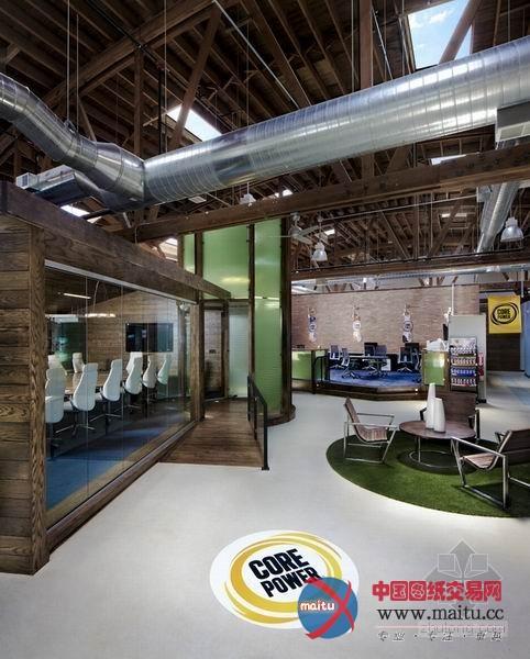 创意十足牛奶公司办公室装修设计-室内设计-中国图纸