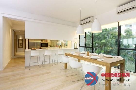 香港白色现代公寓装修设计