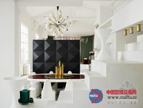 >> 浏览新闻      纽约时尚设计师 yvan mispelaere 的家,位于在一个