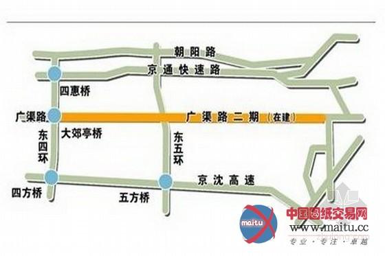 北京四环上建高架 京通快速路交通有望缓解