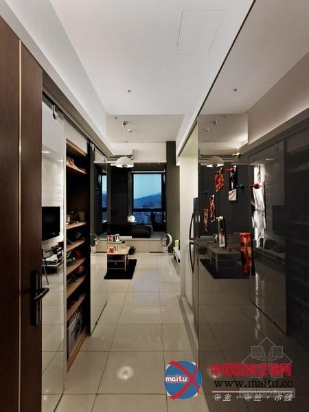 台湾26平方都市型男小公寓装修设计