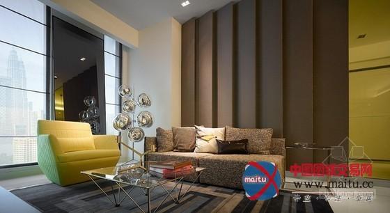 吉隆坡现代时尚公寓装修设计-室内设计-中国图纸交易网