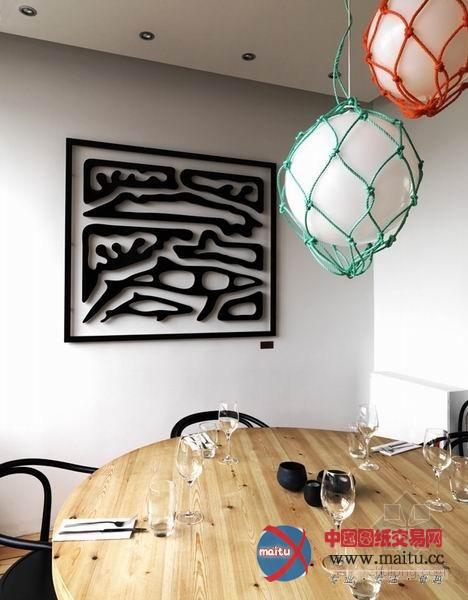 鱼餐厅墙面手绘