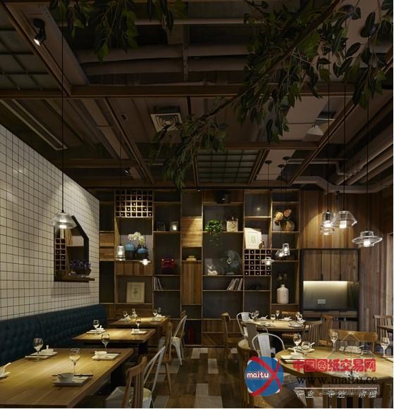绍兴市柯桥万达广场渔沧米缸餐厅设计 艺术感十足