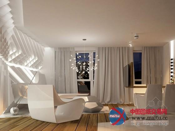 现代高科技质感住宅设计-室内设计-中国图纸