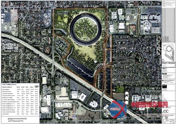美国加州cupertino市苹果公司总部设计方案
