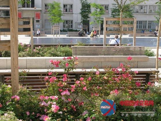 法国维勒班lazare goujon广场-园林景观-中国图纸交易