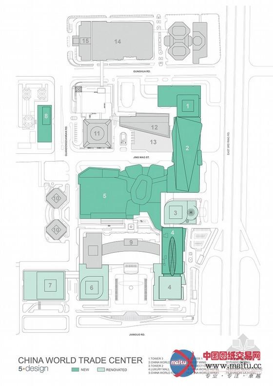 摘要:经由过程扩大年夜现有的中国世界商业中间功能,5+建筑事务设计了一个方案,将世贸中间的大年夜楼外墙相连,作为鼓吹墙,并从头打算同化型的商业网点,力求建造从高级豪华的精品消费区到经济合用的家庭消费区一条龙商业网点,在OMA和CCTV总部扶植北京最高的的办公大年夜楼。  5+建筑事务所设计的中国世界商业中间 建筑设计:5+建筑事务 建筑位置:中国 北京 图片来历:5+建筑事务 经由过程扩大年夜现有的中国世界商业中间功能,5+建筑事务设计了一个方案,将世贸中间的大年夜楼外墙相连,作为鼓吹墙,并从头打算同化型
