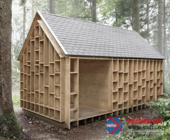 riegger设计野外观察的森林木屋-园林景观-中国