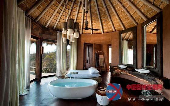 南非原始私人别墅设计-室内设计-中国图纸