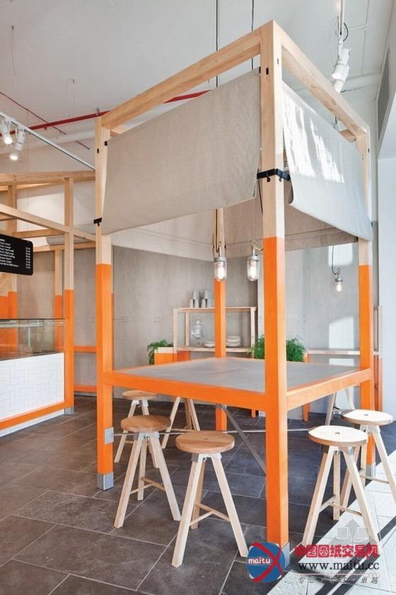 狐狸小屋主题快餐厅设计-室内设计-中国