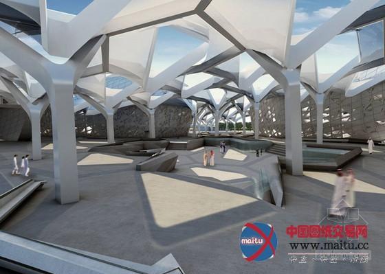 扎哈61哈迪德设计的阿卜杜拉国王石油研究中心