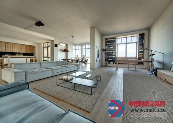 极简主义风格 乌克兰loft住宅设计