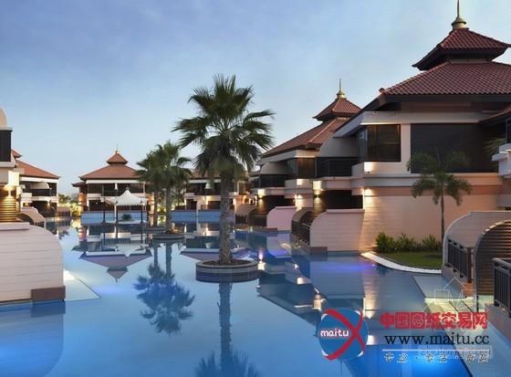 迪拜棕榈岛安纳塔度假酒店设计 浑然一体的景色