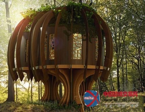 blue forest设计世界上首个安静树屋-建筑结构-中国